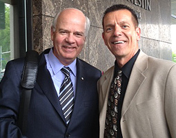 In town with Peter Mansbridge