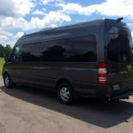Mercedes Sprinter - rear view, driver side